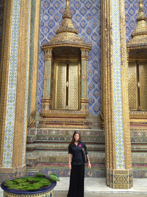 Me, standing in front of one of the temples in the Emerald Buddha complex in Bangkok, Thailand. Duh I'm wearing Marley Lilly... :)